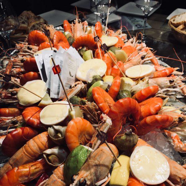 Champagne et fruits de mer