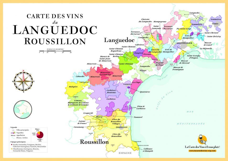 Carte Languedoc Cave des Beaux Arts Oenofeel