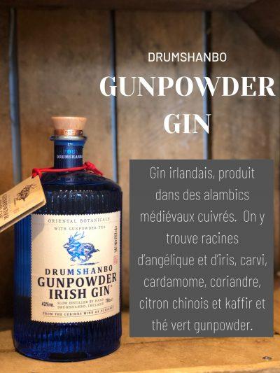 Drumshanbo gunpowder Irish gin cave des beaux arts oenofeel