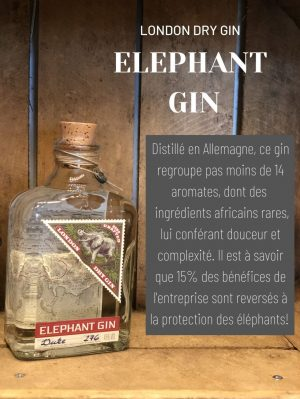 Elephant gin London Dry Gin cave des beaux arts oenofeel