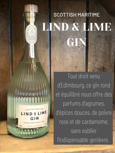 Lind and lime gin Scottish maritime cave des beaux arts oenofeel