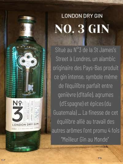 London dry gin numero 3 cave des beaux arts oenofeel