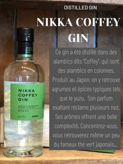 NIKKA Coffey Distilled Gin Cave des Beaux Arts Oenofeel