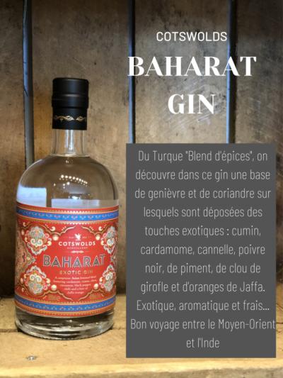 Baharat Gin Cotswolds cave des beaux arts oenofeel
